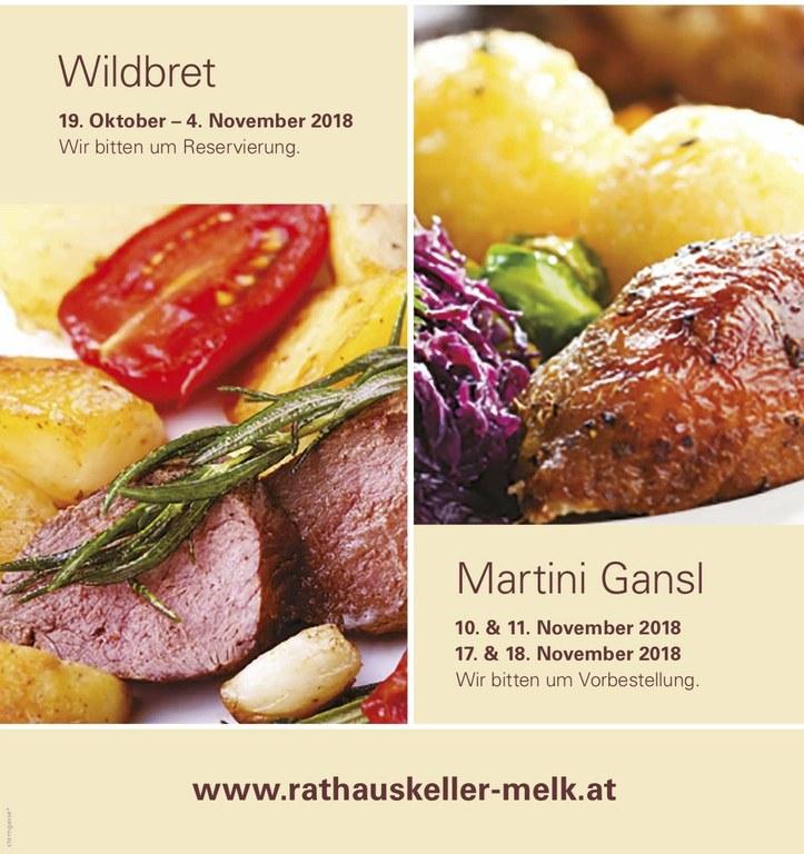 Wildbret & Gansl im Rathauskeller!